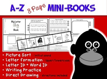 A - Z MINI-BOOKS aligned with ZooPhonics