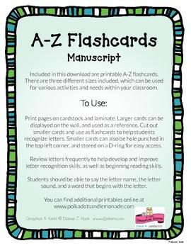 A-Z Manuscript Flashcards