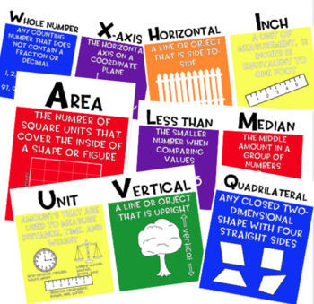 A-Z Alphabet Math Posters (3rd, 4th, 5th Grade)