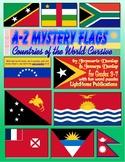 """A-Z Mystery Flags"" Countries Cursive Penmanship"
