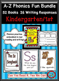 A-Z Phonics Fun Bundle: 52 books and 26 Writing Response Printables