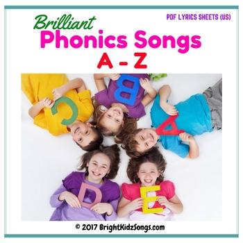 A-Z Phonics Songs Lyrics Sheet PDF