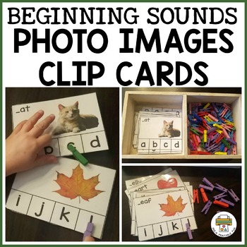 A-Z Photo Beginning Sounds Clip Cards