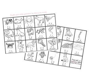 A-Z Picture Cards in SPANISH, Tarjetas para practicar con dibujos