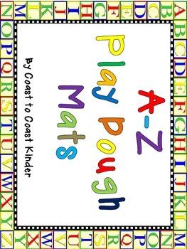 A-Z Play Dough Mats for Beginning  Sounds