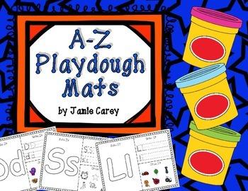 A-Z Playdough Mats