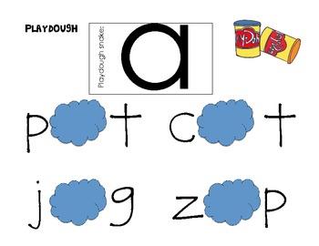 A-Z Playdough Word Work Center