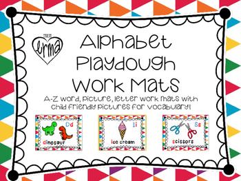 A-Z Playdough Work Mats