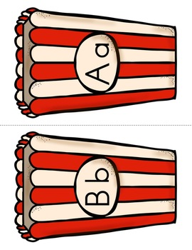 Popcorn Font Sort!  Literacy Center for Preschool & PeK