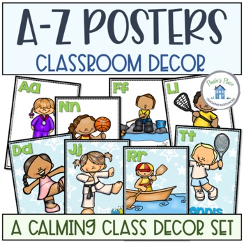 A-Z Posters Blue and Green Theme