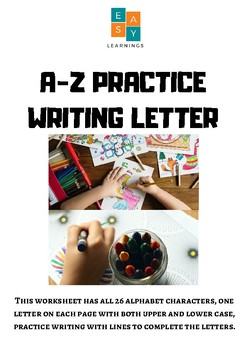 A-Z Practice Writing Letter