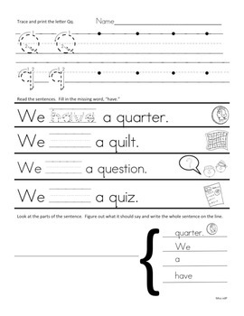 A-Z Printing Worksheets with Sight Word Review