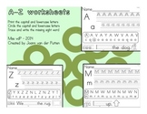 A-Z Printing and Find-the-Letter Worksheets