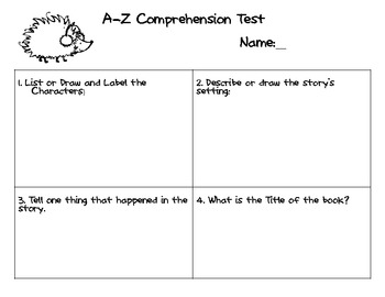 A-Z Readers Quick Comprehension Test