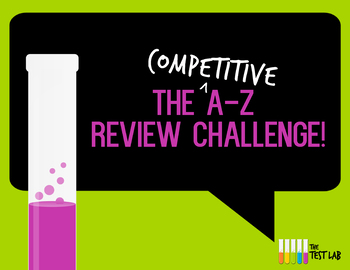 A-Z Review Challenge Activity Game For Points ANY topic!