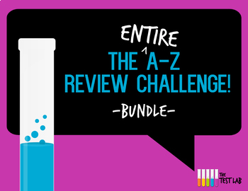 A-Z Review Challenge Activity Game Bundle