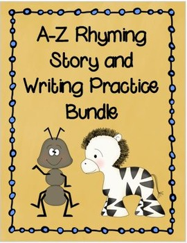 A-Z Letter Rhymes, Writing and Drawing Practice Bundle