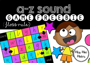 A-Z SOUND GAMEBOARD WITH FLOSS RULE