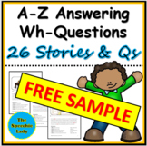 A-Z Short stories with WH-questions FREE SAMPLE