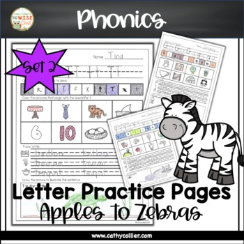 Apples to Zippers: Letter Practice Pages Set 2
