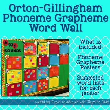 Orton Gillingham Word Wall