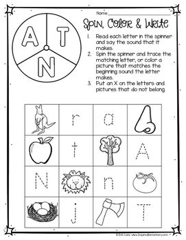A-Z Spin, Color & Write