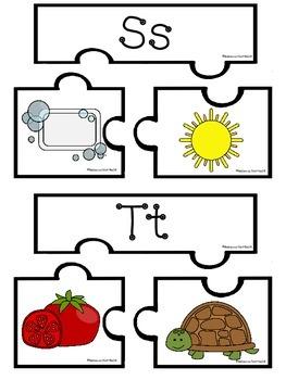 A - Z Three Piece Beginning Sound Picture Puzzles