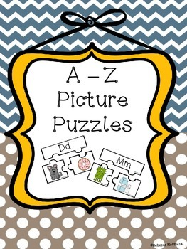 A - Z Three Piece Beginning Sound Picture Puzzles