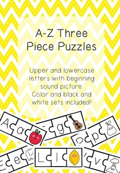 A-Z Three Piece Puzzles