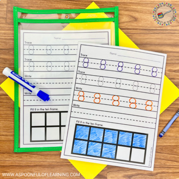 A-Z Trace, Write & Numbers 1-10 Trace, Write, Draw, Fill Ten Frame