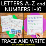 A-Z Trace, Write & Numbers 1-10 Trace, Write, Draw, Fill T