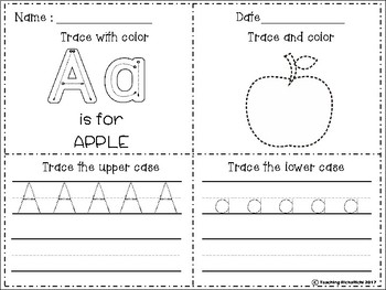 A-Z Trace and Color Upper and Lower Case