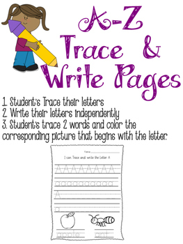 A-Z Trace and Write! Letter Identification
