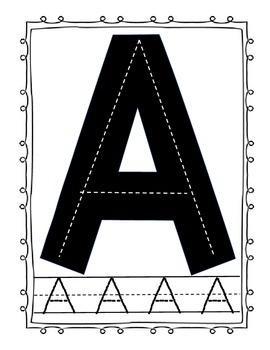 A-Z Tracing Cards