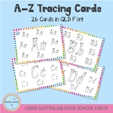 A-Z Tracing Cards - Queensland Font