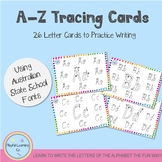 A-Z Tracing Cards - South Australia School Font