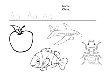 A-Z Tracing + Colouring