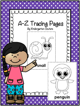 A-Z Tracing Or Push Pin Pages
