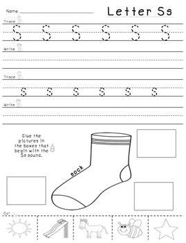 Beginning Sounds (Trace, Write, Cut, and Glue!)