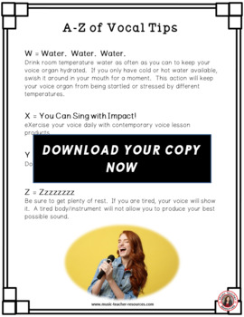 Chorus (Choir) A-Z Vocal Tips