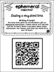 A-Z Weekly Wacky Words & Writing Prompts (with QR codes!)