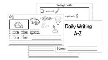 A-Z Weekly Writing Packet- Letter I