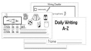 A-Z Weekly Writing Packet- Letter J