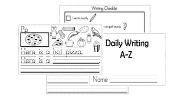 A-Z Weekly Writing Packet- Letter P