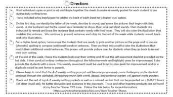 A-Z Weekly Writing Packet- Letter U