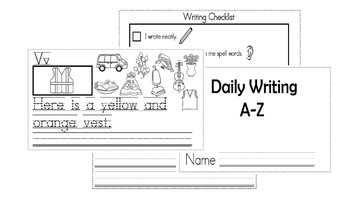 A-Z Weekly Writing Packet- Letter V