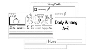 A-Z Weekly Writing Packet- Letter W
