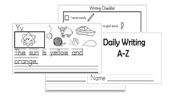 A-Z Weekly Writing Packet- Letter Y