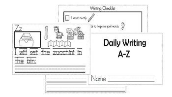 A-Z Weekly Writing Packet- Letter Z