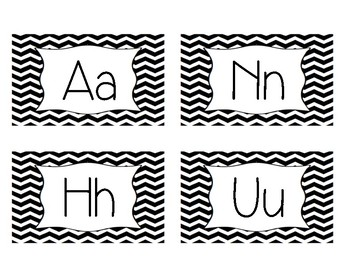A-Z Word wall letters